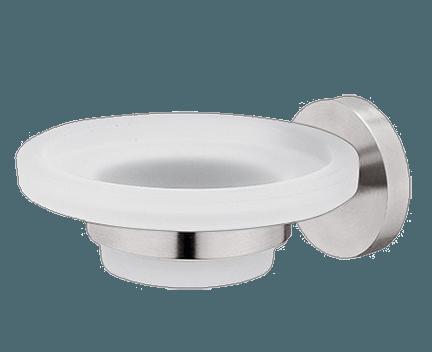 Držák na mýdlo Unix s skleněnou mýdlenkou | broušená nerez