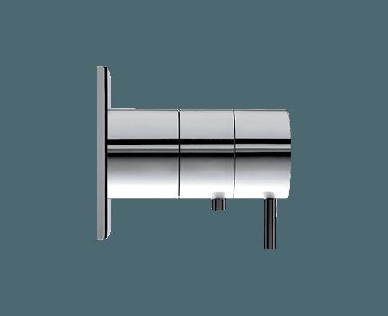 Podomítkový modul Flow | kruhová destička | termostatický jednocestný