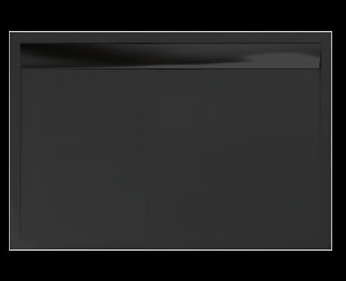ILA - WIA obdélníková vanička černá 800x900