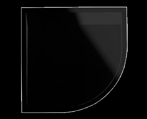 ILA - WIR čtvrtkruhová vanička černá 800x800