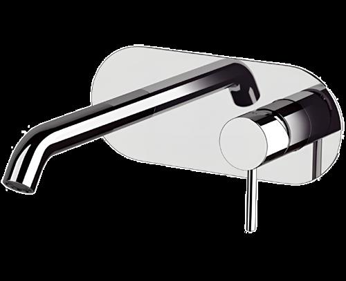 Umyvadlová baterie X STYLE | podomítková páková | jednoprvková | černá s dekorem lesk