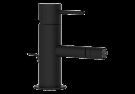 Bidetová baterie X STYLE s uzávěrem výpusti   stojánková páková   černá mat