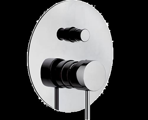 Podomítkový modul X STYLE | pákový dvoucestný | chrom lesk