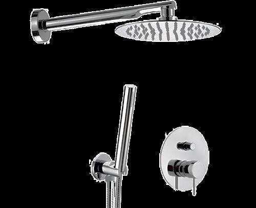 Sprchový set X STYLE   podomítkový pákový   se závěsnou hlavicí  Ø 200 mm   černá mat