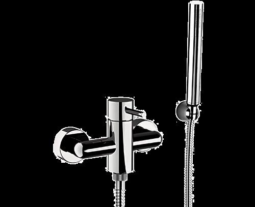 Sprchová baterie X STYLE + ruční sprška + hadice + úchytka na ruční spršku | nástěnná | chrom lesk