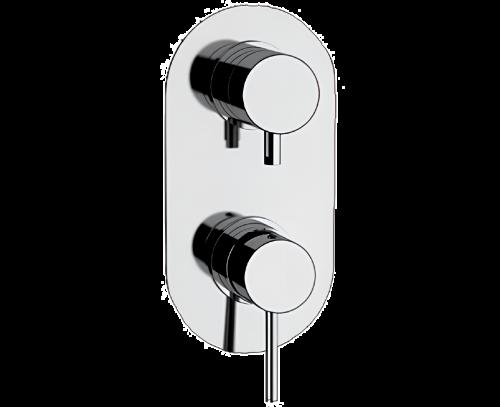 Podomítkový modul X STYLE X 93 | třícestná | pákové | chrom lesk