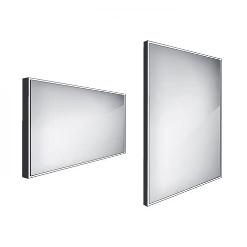 Koupelnové podsvícené LED zrcadlo ZPC   1200 x 700 mm   černá